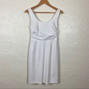 Tahari Cotton White Pencil Dress Size 2